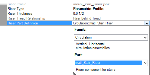 Stair Construction Settings   Risers Tab
