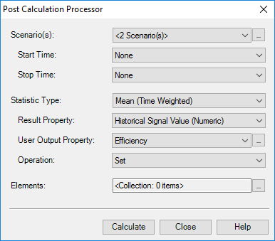 Post Calculation Processor